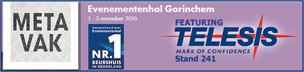 METAVAK 2016 | Stand 241 | November 01 - 03, 2016 | Gorinchem, NL