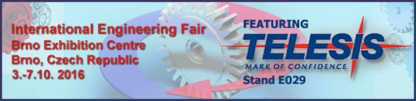 International Engineering Fair | October 03 - 07, 2016 | Brno Exhibition Centre | Brno, Czech Republic