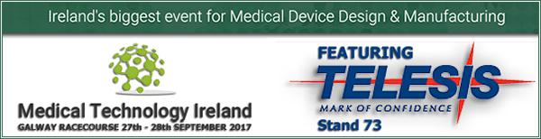 Medical Technology Ireland | Stand - 73 | 27 - 28 September, 2017 | Galway Racecourse, Ireland